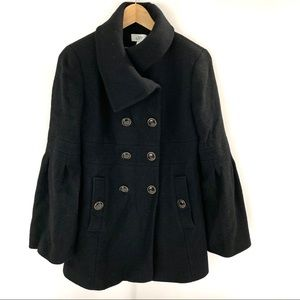 Ann Taylor Loft Wool Blend Jacket Pea Coat